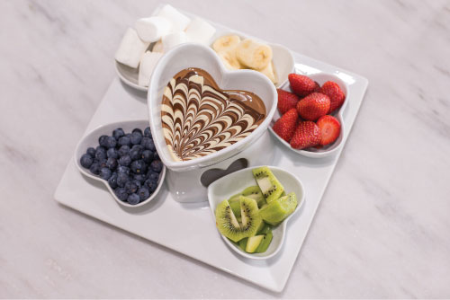 chocolate dips plate (small)